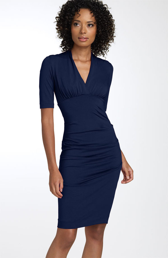 Nicole Miller Ruched Sheath Dress (Nordstrom Exclusive)