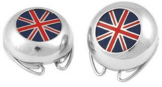 Forzieri Union Jack Flag Silver Plated Button Covers