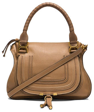 Chloé Small Marcie Grained Leather Satchel