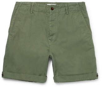 Mr P. Garment-Dyed Cotton And Linen-Blend Twill Shorts
