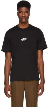 MSGM Black Graffiti T-Shirt
