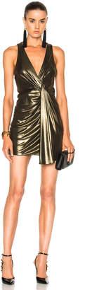 Saint Laurent Jersey Twist Front Sleeveless Dress
