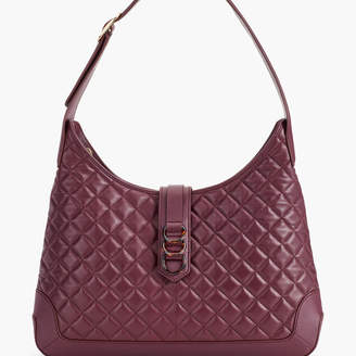 Talbots Quilted Nappa Leather Hobo Bag