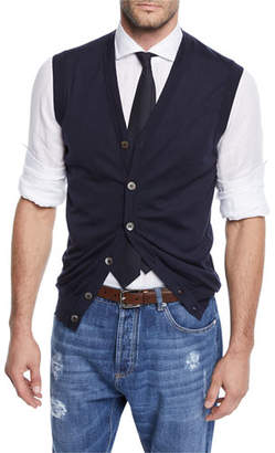 Brunello Cucinelli Men's Sleeveless Cardigan