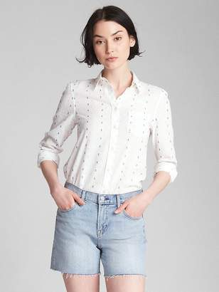Gap Fitted Boyfriend Clip Dot Shirt