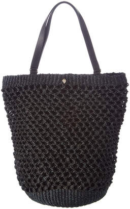 Helen Kaminski Kourtney Raffia & Leather Shopper