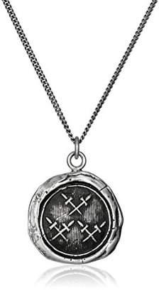 Pyrrha Talisman Men's Sterling Crossed Daggers Pendant Necklace