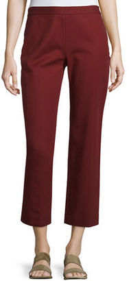 THE ROW Seloc Flare-Leg Cropped Pants, New Brick $690 thestylecure.com
