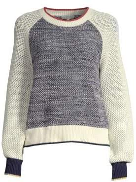 Joie Golani Colorblock Cotton Knit Sweater