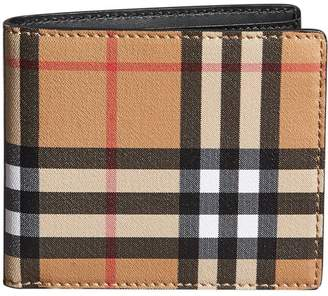 Burberry Vintage Check International Bifold Wallet