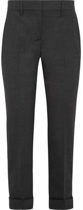 Prada - Cropped Stretch-wool Slim-leg Pants - Gray