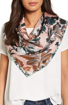 Echo Highgate Floral Square Silk Scarf