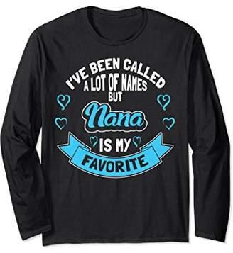 Nana Long Sleeve - Nana Is My Favorite