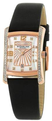 Stuhrling Original Daisy 145D.12457 Stainless Steel Leather & Diamond 22mm x 26mm Watch