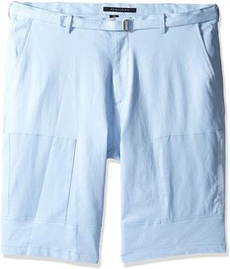 Sean John Men's Big and Tall Linen Belted Flight Short