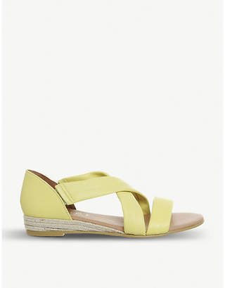 Office Hallie cross-over strap espadrille leather sandals