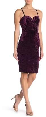 Material Girl Molded Cup Velvet Midi Dress