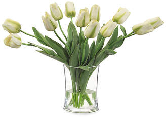 """John-Richard Collection 27"""" Simply Tulips in Vase - Faux"""