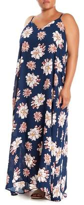 WEST KEI Printed Gauze V-Neck Maxi Dress (Plus Size)
