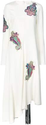 Tibi paisley patch asymmetric dress