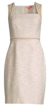Lilly Pulitzer Dana Embellished Metallic Sheath Dress