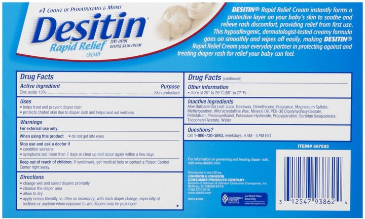 Desitin Creamy Diaper Rash Cream