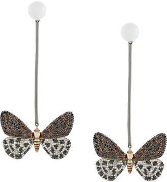 Astley Clarke Speckled Magpie Moth Bar drop earrings