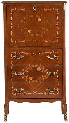 One Kings Lane Vintage Trad. Louis XV-style Secretary Desk - Castle Antiques & Design