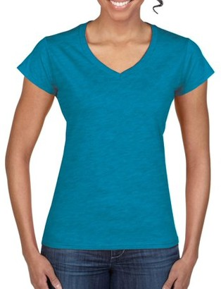 Gildan Women's Short Sleeve Fitted V-Neck T-Shirt