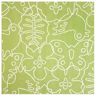 notNeutral Season Lotus Green/White Area Rug Rug
