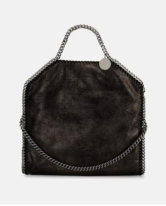 Stella McCartney Ruthenium Falabella Shiny Dotted Chamois Fold Over Tote