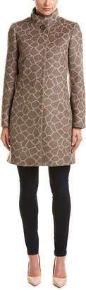 Cinzia Rocca Novelty Printed Alpaca & Wool-Blend Coat