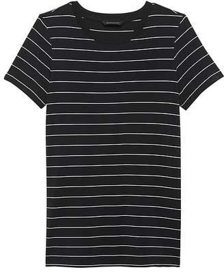Banana Republic Petite Stretch-Modal Side-Slit Tunic T-Shirt