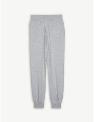 Moschino Embossed logo stretch-cotton jogging bottoms 4-14 years