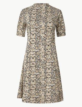 Marks and Spencer Animal Print Shift Mini Dress