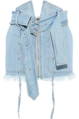 Marques Almeida Marques' Almeida Frayed Ring-embellished Mini Skirt