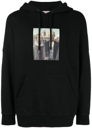 Palm Angels graphic print hooded sweatshirt