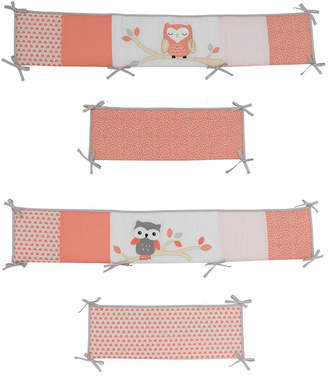 Lambs & Ivy Family Tree Owl 4-Piece Baby Crib Bumper Bedding