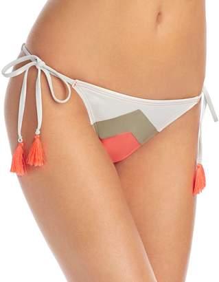 Vince Camuto Camellia Chevron Stripe String Side Tie Bikini Bottom