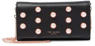 2333d45d8 Ted Baker Steff Faux Pearl Stud Leather Matinee Wallet-on-a-Chain