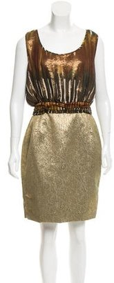 Rachel Roy Metallic Printed Dress w/ Tags $85 thestylecure.com