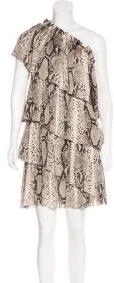 Lanvin Silk One-Shoulder Dress