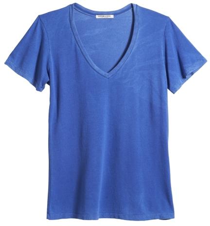 Cotton Citizen Womens - Women's Jersey Sweater Tee w/ Pocket - Iris