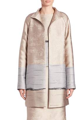 Lafayette 148 New York Women's Jacquard Long Aalyah Coat