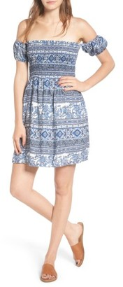 Women's Everly Print Off The Shoulder Dress $49 thestylecure.com