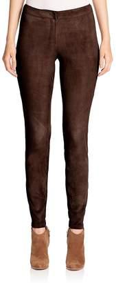 Lafayette 148 New York Women's Magic Stretch Suede Slim Pants
