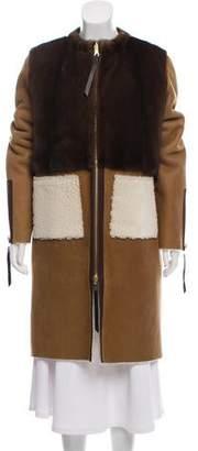 Oscar de la Renta Pre- Fall 2016 Long Shearling Coat w/ Tags