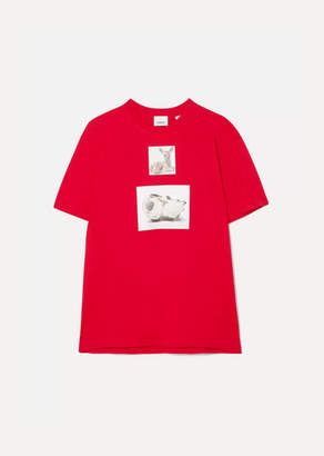Burberry Oversized Printed Cotton-jersey T-shirt - Red