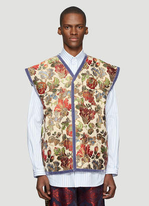 Gucci Floral Jacquard Gilet in Beige