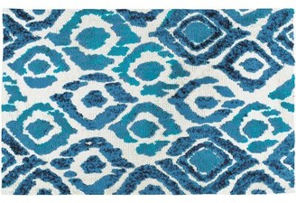 Blue Area Wrought Studio Lennie Ikat Rug Wrought Studio